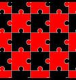 seamless pattern with black and red puzzles vector image vector image
