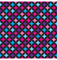 seamless pattern with blue and pink elements vector image vector image