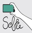 Selfie hipster vector image vector image