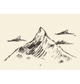 Sketch of a mountain peak vector image vector image