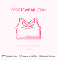 sport top icon isolated on white vector image vector image