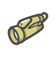 spyglass military vision device icon vector image