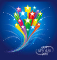 stars celebration background vector image vector image