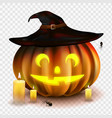 stock halloween pumpkin vector image