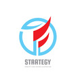 strategy - concept business logo template vector image