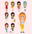 street fashion girls models wear style fashionable vector image