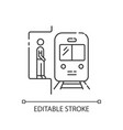 subway pixel perfect linear icon vector image vector image
