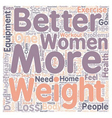 The Chronic Search For Weight Loss And Exercise vector image vector image