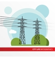 Transmission tower Isolated power-line carrier vector image vector image