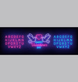 valentines day neon sign valentines day vector image