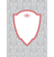 vector red ornate frame and floral background2 vector image vector image