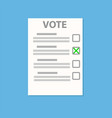vote check paper list on blue with shadow stock vector image vector image