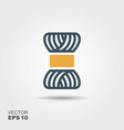 yarn thread knitting wool flat vector image