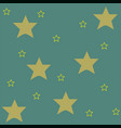 yellow stars on blue background pattern design vector image vector image