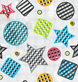 abstract geometric seamless pattern with grunge vector image
