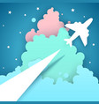 paper origami style air travel vector image