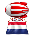 A balloon with the flag of Netherlands vector image vector image