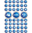 a set of thematic icons on the buttons vector image vector image