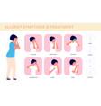 allergy symptoms allergic cough sick woman vector image vector image