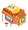 bakery shop icon isometric style vector image