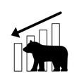 bear downtrend stock market symbol vector image