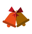 bells with ribbon bow icon image vector image vector image