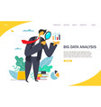 big data analysis website landing page vector image
