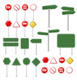 big set stop signs and traffic sign collection vector image
