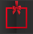 bright holiday gift box frame banner hanging vector image vector image