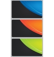 brochure business card banner metal glass abstract vector image