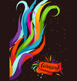 carnival party background with colorful decorative vector image