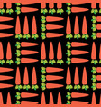 carrot field seamless pattern vegetable vector image