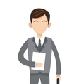 caucasian businessman icon vector image vector image