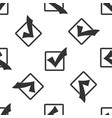 check mark in a box icon seamless pattern vector image vector image