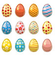colorful easter egg collection cartoon vector image