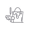 design works line icon concept design works vector image vector image