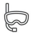 diving mask line icon diving and underwater vector image vector image