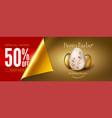 easter sale eggs on golden background vector image vector image