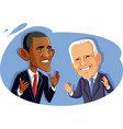 editorial use barak obama and joe biden vector image vector image