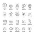 event and party line icons set for wedding vector image