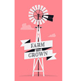 Farm Windmill vector image vector image