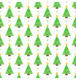 Flat design emoji christmas trees seamless pattern vector image