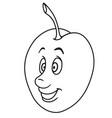fresh plum cartoon vector image vector image