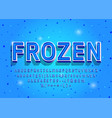 frozen alphabet letters numbers and symbols 3d vector image vector image
