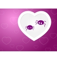 Funny Spiders love vector image vector image