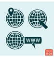 Globe icon isolated vector image vector image