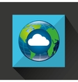 globe world cloud connection service vector image vector image