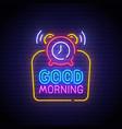good morning neon sign good morning logo neon vector image