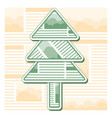 green christmas fir tree from sheets of newspaper vector image