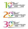 hospital anniversary colorful symbol vector image vector image